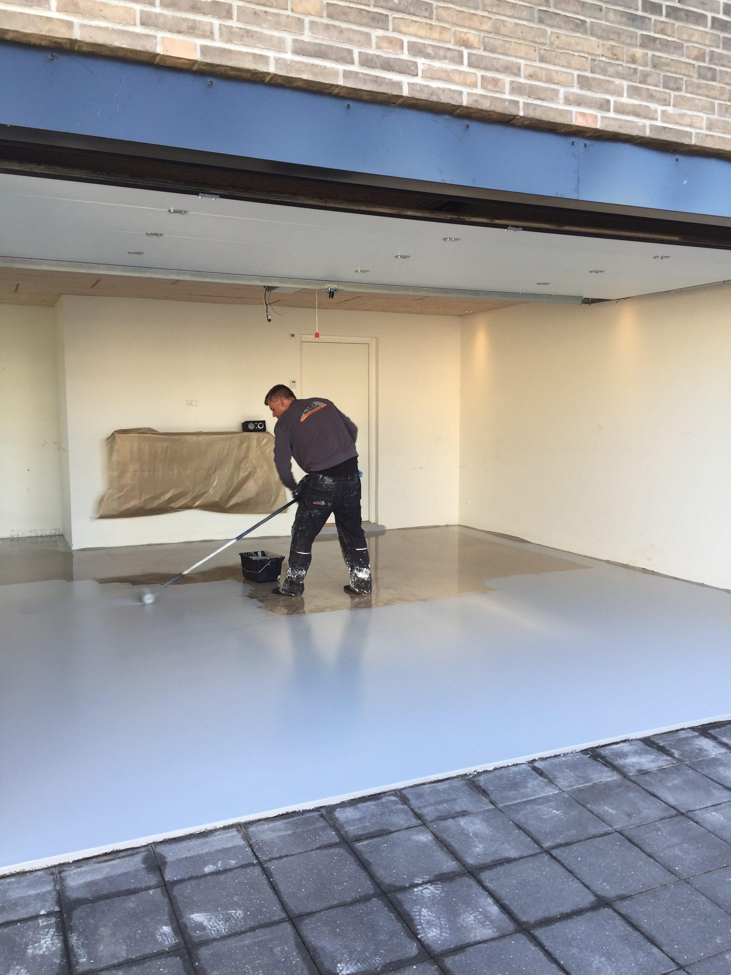 Støbe gulv garage